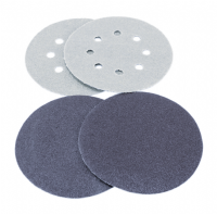 50, 75, 77, 80, 90 and 96mm Diameter hook & loop backed sanding discs.